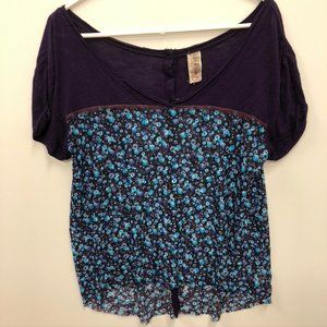 Free People Hi Low flowy floral top Size Small